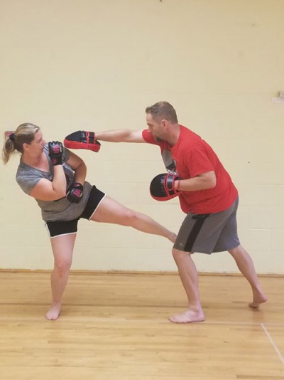 Tina sparring with Guro Jamie